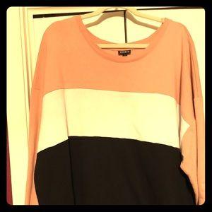 Torrid color block sweater size 4